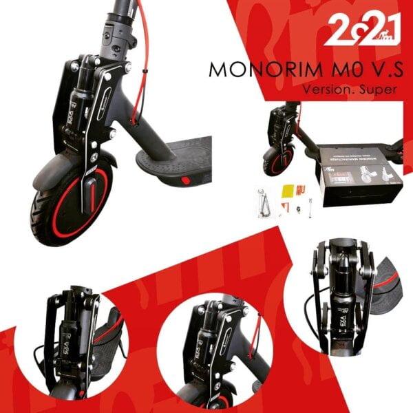 Monorim V4 első lengéscsillapító vagy rugóstag Xiaomi M365 széria ME-VS Légrugós - fekete felszerelve pakk